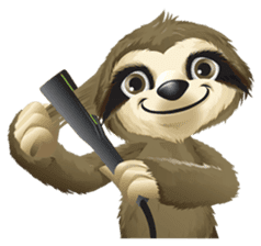Matty the Sloth: Hanging Out sticker #1815822