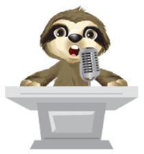 Matty the Sloth: Hanging Out sticker #1815828