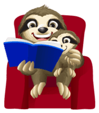 Matty the Sloth: Hanging Out sticker #1815833