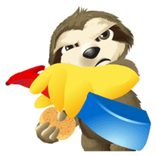 Matty the Sloth: Hanging Out sticker #1815836