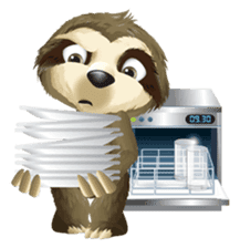 Matty the Sloth: Hanging Out sticker #1815838