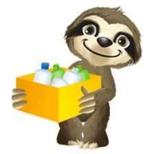 Matty the Sloth: Hanging Out sticker #1815840
