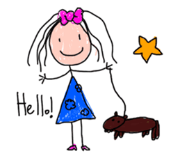 Children Art Style - (ENGLISH) sticker #1817041