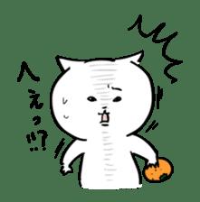 to tell a glaring lie cat sticker #1821729