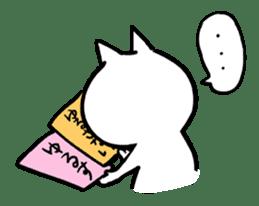 to tell a glaring lie cat sticker #1821753