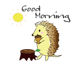 Hedgehog's Lovely LIFE sticker #1822282