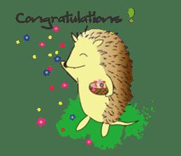 Hedgehog's Lovely LIFE sticker #1822285
