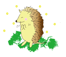 Hedgehog's Lovely LIFE sticker #1822297