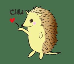 Hedgehog's Lovely LIFE sticker #1822304