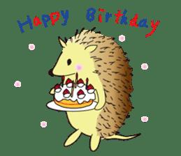 Hedgehog's Lovely LIFE sticker #1822318