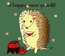 Hedgehog's Lovely LIFE sticker #1822319
