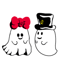 The daily life of charming Q-pot.Ghosts!