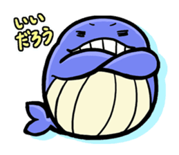 The OSSAN Whale sticker #1831544