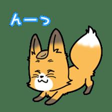 Fox & Raccoon dog! sticker #1847232