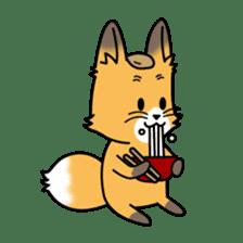 Fox & Raccoon dog! sticker #1847238