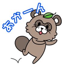 Fox & Raccoon dog! sticker #1847245