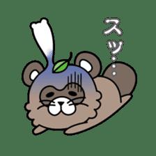 Fox & Raccoon dog! sticker #1847249