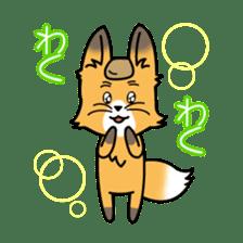 Fox & Raccoon dog! sticker #1847250