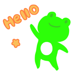 Frog sticker 2(daily conversation)