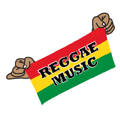 REGGAE MUSIC STICKER