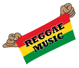 REGGAE MUSIC STICKER sticker #1866088
