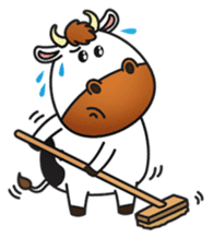 Moovin the Cow sticker #1867145