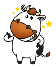 Moovin the Cow sticker #1867146