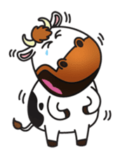 Moovin the Cow sticker #1867153