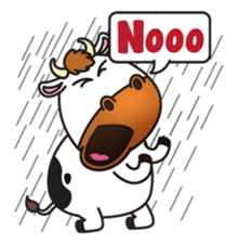 Moovin the Cow sticker #1867158