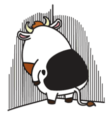 Moovin the Cow sticker #1867159