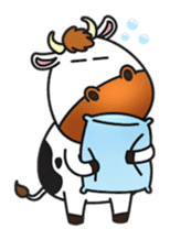 Moovin the Cow sticker #1867160