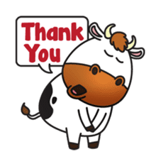 Moovin the Cow sticker #1867163