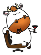 Moovin the Cow sticker #1867167