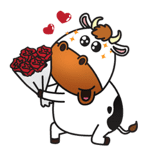 Moovin the Cow sticker #1867168