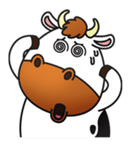 Moovin the Cow sticker #1867176