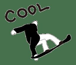 SNOWBOADER monotone sticker #1874406