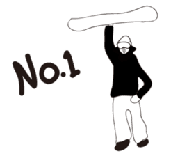 SNOWBOADER monotone sticker #1874407