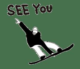 SNOWBOADER monotone sticker #1874412