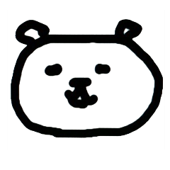 Dorry  Sticker of a surreal white bear