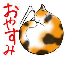 Gesture of a cat sticker #1895024