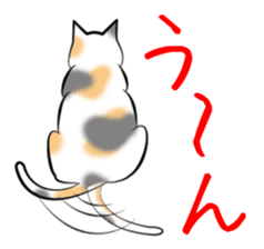 Gesture of a cat sticker #1895044