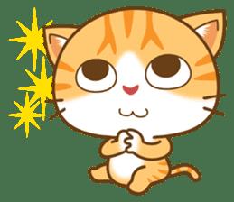 pumpkin cat sticker #1897181