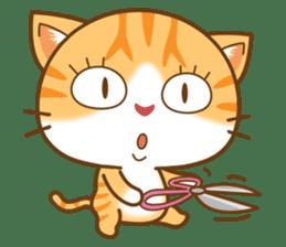pumpkin cat sticker #1897182