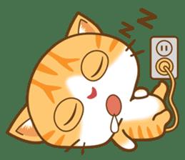 pumpkin cat sticker #1897184