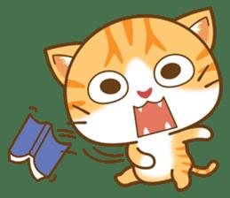 pumpkin cat sticker #1897194