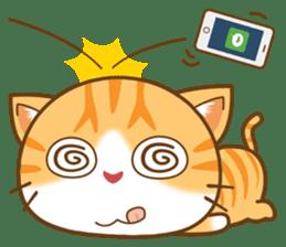 pumpkin cat sticker #1897199