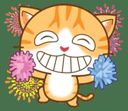 pumpkin cat sticker #1897201