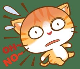 pumpkin cat sticker #1897203