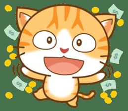 pumpkin cat sticker #1897220