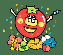Cheerful Vegetables Village sticker #1897511
